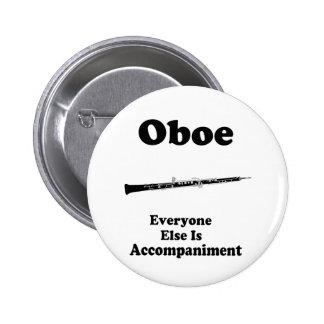 Oboe gåva standard knapp rund 5.7 cm