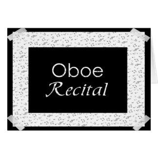 Oboe högläsning hälsningskort
