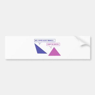 Obtuse vinkel för akut triangel bildekal
