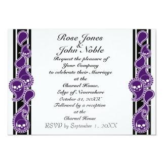 Obverse (indigoblå) bröllopinbjudan 12,7 x 17,8 cm inbjudningskort