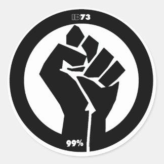 #Occupy näve Runt Klistermärke