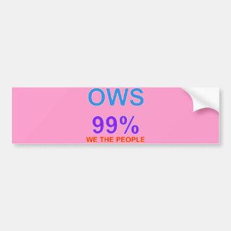 Occupy wall street 99% oss folket bildekal