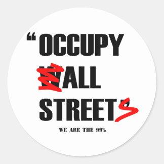 Occupy wall street alla gator är vi 99%na runt klistermärke