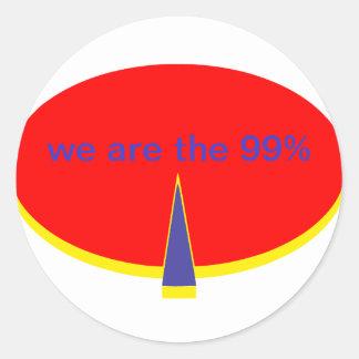 """""""occupy wall street är vi de 99 procentna """", runt klistermärke"""