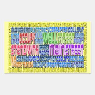 Occupy wall street design för rektangulärt klistermärke