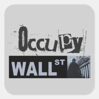 Occupy wall street fyrkantigt klistermärke