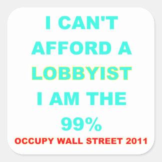 Occupy wall street kan jag inte ha råd med en fyrkantigt klistermärke