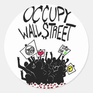 Occupy wall street protest runt klistermärke