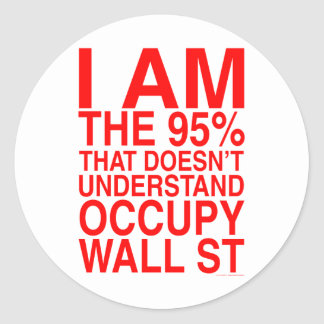 Occupy wall street runt klistermärke