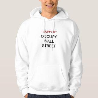 Occupy wall street t-skjortor hoodieströja tröja med luva