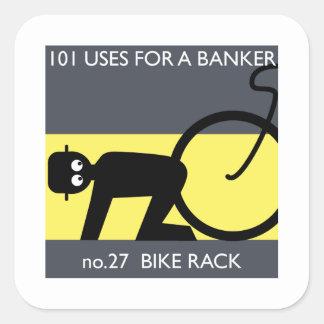 occupy wall street - ta din cykel! fyrkantigt klistermärke