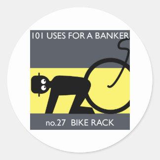 occupy wall street - ta din cykel! runt klistermärke