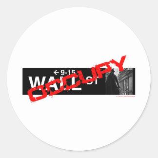 Occupy wall street underteckna runt klistermärke