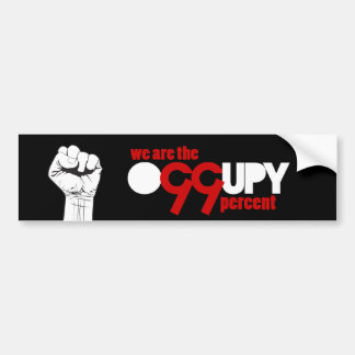 Occupy wall street - vi är de 99 procentna bildekal