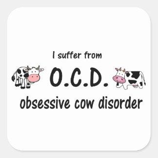 OCD-ko Fyrkantigt Klistermärke