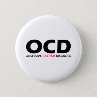OCD - Tvångsmässig havskattoordning Standard Knapp Rund 5.7 Cm