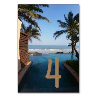 Oceansidebordkort Bordsnummer