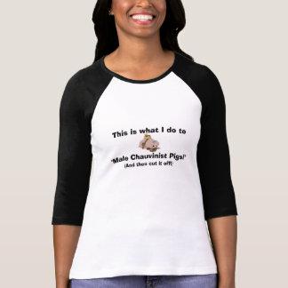 (Och därefter snitt det av!) griskvinnor för den T Shirt