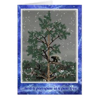 Och en Porcupine i ett grästräd Hälsningskort