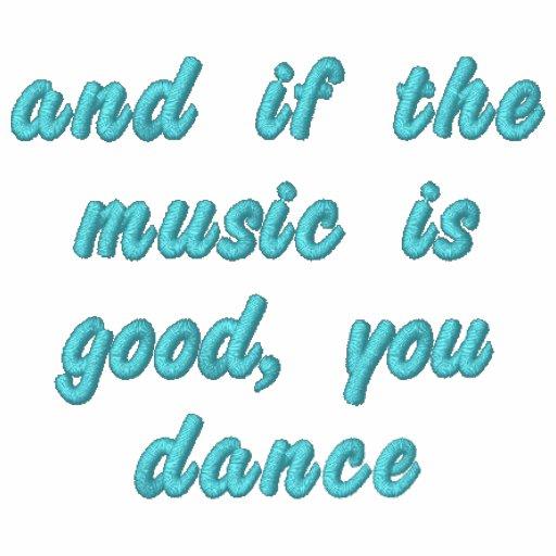 Och om musiken är det bra citationstecknet brodera hoodie