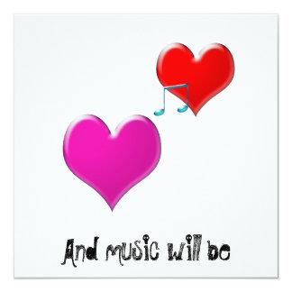 och ska musik är inbjudningskort