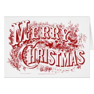 och tom god jul noterar kort