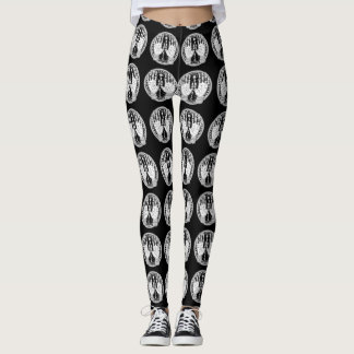 Ockult stil för psykisk handflatanavläsare leggings