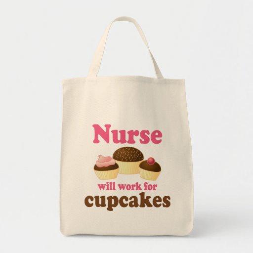 Ockupation ska arbete för muffinssjuksköterska tygkasse