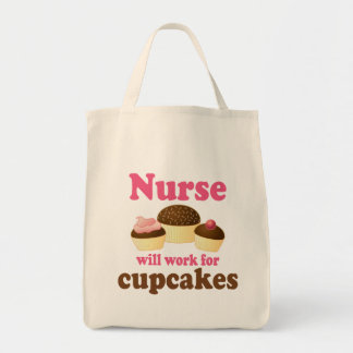 Ockupation ska arbete för muffinssjuksköterska mat tygkasse