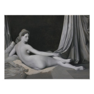 Odalisque i Grisaille Poster
