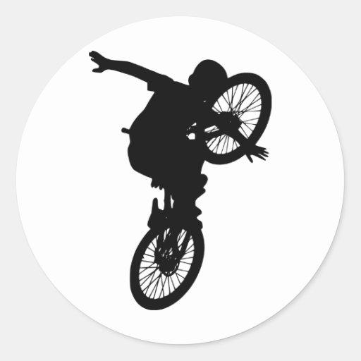 Öde för fristil för lag för cykel för rund klistermärke