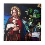 Öde för konst för design för Jesus KristusLamb Gla Kakel