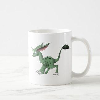 Odefinierad varelse med Unicornhornen Kaffemugg