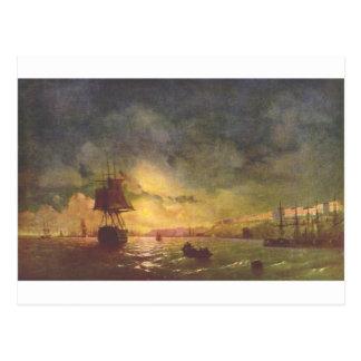 Odessa på natten av Ivan Aivazovsky Vykort