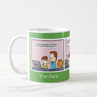 """""""Odies brev till muggen Santa"""" Garfield för komisk Kaffemugg"""