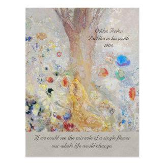 Odilon Redon Buddha CC0211 mirakel av en blomma Vykort
