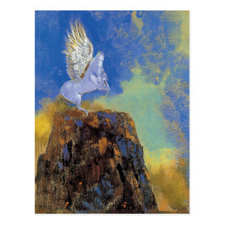 Odilon Redon Pegasus - grekisk Mythologysymbolism Vykort