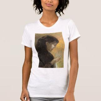 Odilon Redon-Porträtt av madamRedon att brodera Tröja