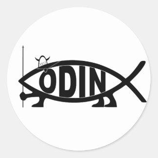 Odin fisk runt klistermärke