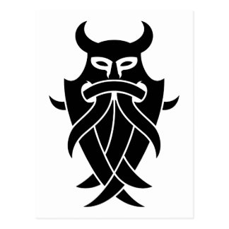 Odins maskerar stam- (svarten) vykort