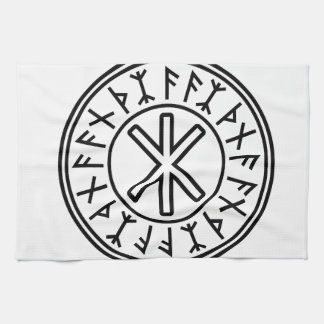 Odins skydd No.2 (svarten) Kökshandduk