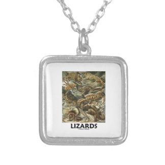 Ödlor Ernest Haeckel Artforms av naturen Halsband Med Fyrkantigt Hängsmycke