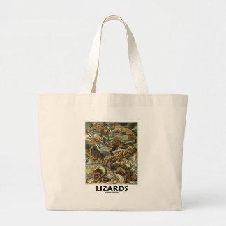 Ödlor (Ernest Haeckel Artforms av naturen) Tygkassar