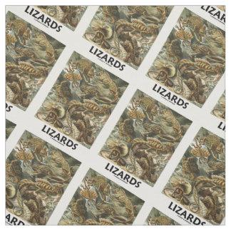 Ödlor Ernest Haeckel Artforms av naturen Tyg