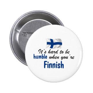 Ödmjuk finska knapp med nål