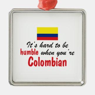 Ödmjukt colombianskt julgransprydnad metall