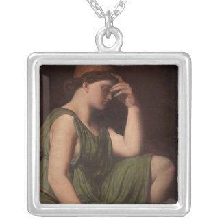 Odysseus studie för apotheosisen av Homer Silverpläterat Halsband