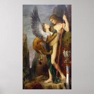 Oedipus och sphinxen poster