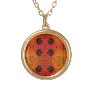 Offcentre symmetri guldpläterat halsband