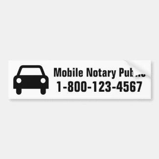 Offentlig bil för mobil Notary Bildekal